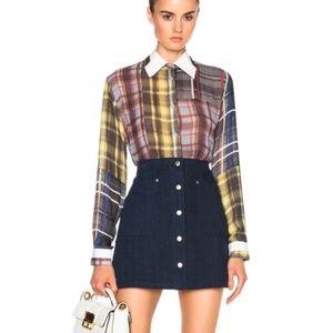 Rag & Bone Siggy Denim Mini Skirt Sz 0
